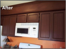Hinsdale cabinets refacer oakbrook kitchen cabinet for Adding crown molding to kitchen cabinets before after