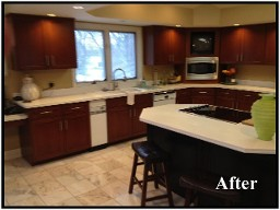 Kitchen cabinet refacing orland park save wood cabinets for Save wood kitchen cabinet refinishers